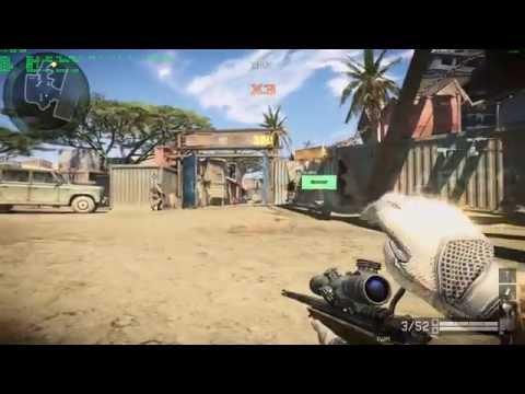 Warface Sniper Gameplay Coop Africa Map - Max Graphics Settings Full HD - Nvidia GTX 750 TI OC - OSD