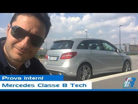 Prova interni Mercedes Classe B Tech - test drive