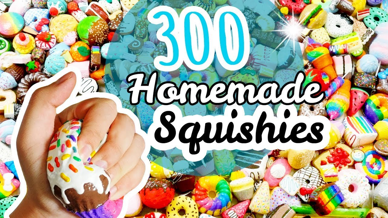 Biggest Homemade Squishy Collection Ever Memory Foam Polyfoam Makeup Sponges And Decorated