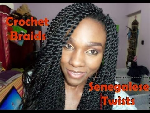 Crochet Braids~Senegalese Twists - YouTube