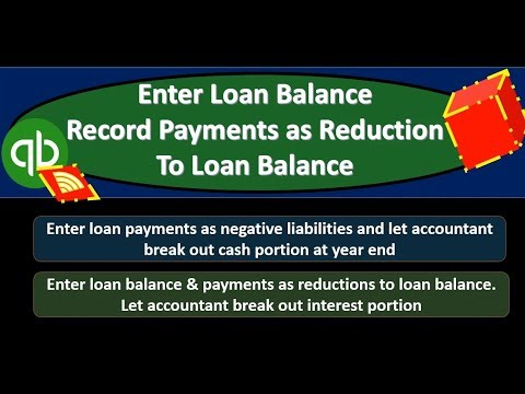 QuickBooks Online 2019-Enter Loan Balance Record Payments ...
