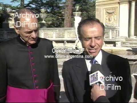 DiFilm - Carlos Menem Marcelo Sanchez Sorondo Vaticano 1998