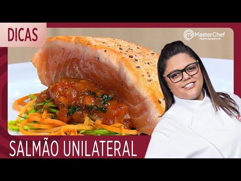 SALMÃO UNILATERAL E ESPAGUETE DE LEGUMES Com Dayse | DICAS MASTERCHEF