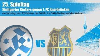 25. Spieltag(Nachholspiel), Stuttgarter Kickers vs 1.FC Saarbrücken-Spielbericht+Interview
