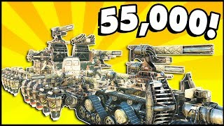 Crossout - 55,000 POWERSCORE! Is This The Highest Powerscore? (Crossout Leviathan Gameplay)
