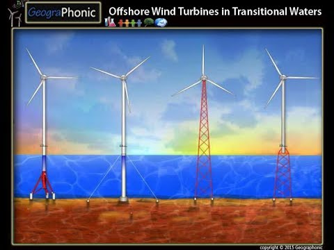 Offshore Wind Turbines in Transitional Waters, types of constructions for wind power at sea
