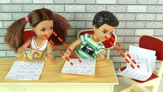 ДВОЙНОЕ СПИСЫВАНИЕ Мультик #Барби Школа Куклы Игрушки для девочек