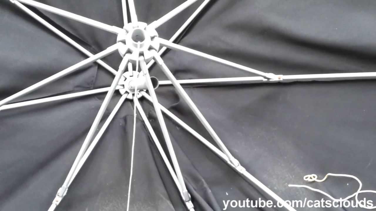 re-string patio umbrella - YouTube