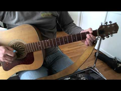 Back In Black Intro/ Verse Guitar Lesson (on acoustic)