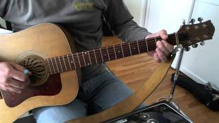 vuclip Back In Black Intro/ Verse Guitar Lesson (on acoustic)