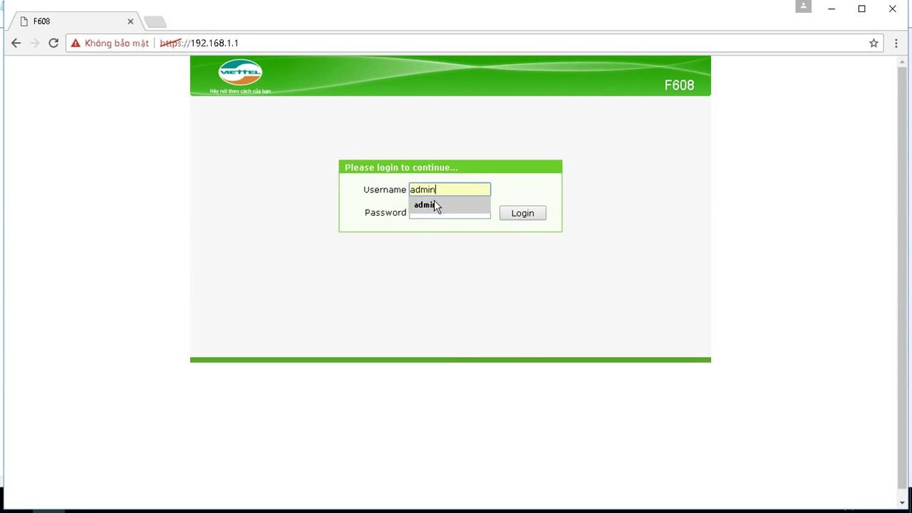 Hướng dẫn đổi mật khẩu wifi viettel | 192.168.1.1