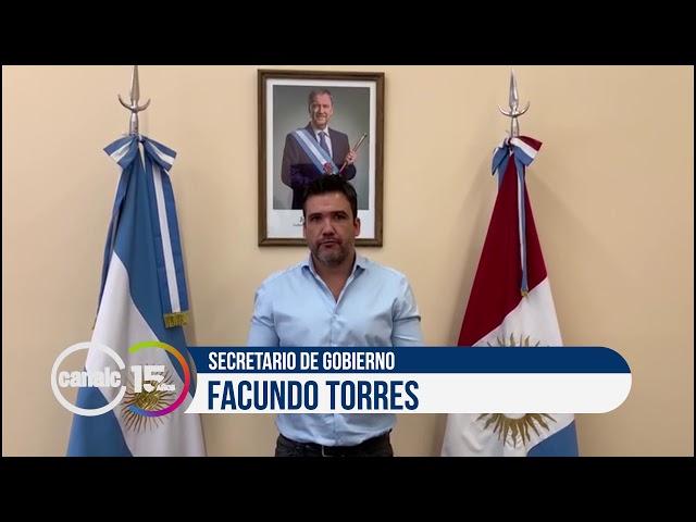 Canal C 15 años: Facundo Torres, secretario de gobierno