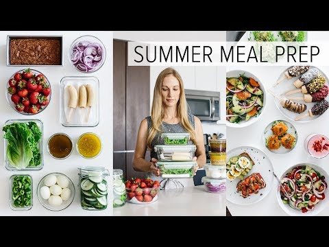 MEAL PREP for SUMMER | light & fresh recipes + PDF guide