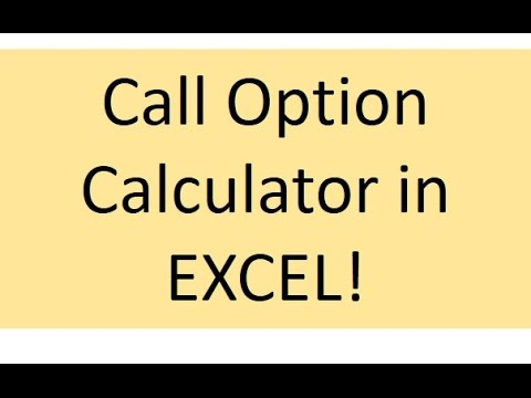 Call Option Calculator!
