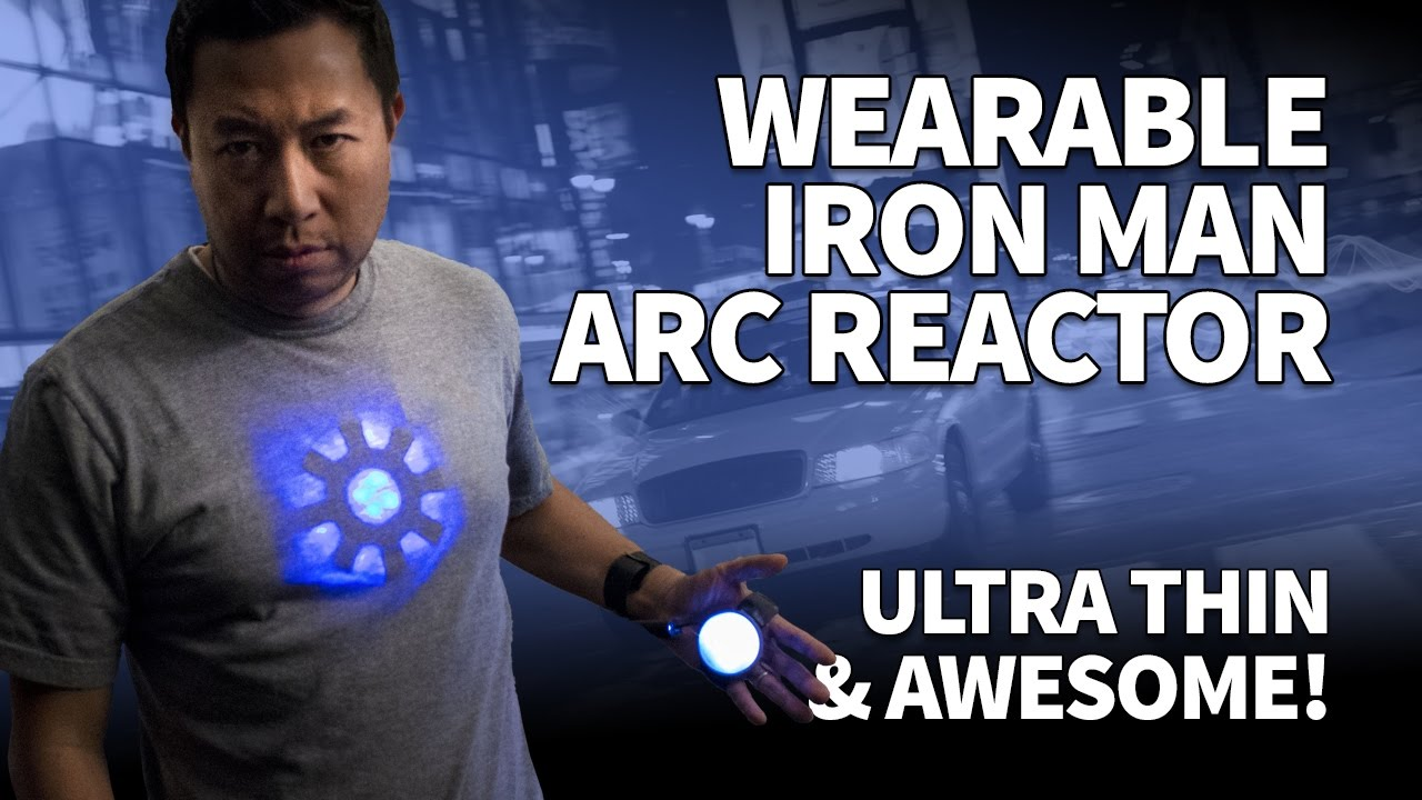 Make An Iron Man Arc Reactor For Tony Stark Cosplay U2013 DIY Ultra Thin  Wearable With LEDs