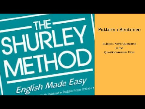 Shurley Grammar: Subject/Verb Questions In The Question/Answer Flow