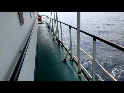 Traveling the ship in Arabian ocean