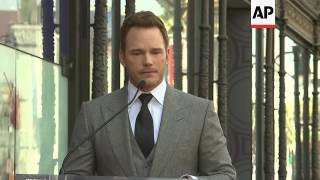 Chris Pratt celebrates Walk of Fame star with wife Anna Faris and son Jack