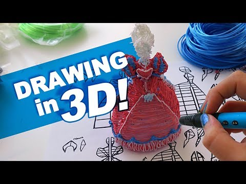 Drawing in 3 DIMENSIONS! | Scribbler 3D Pens | drawingwiffwaffles