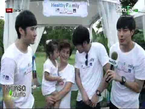 สินค้า กรุงไทย แอกซ่า ประชาสัมพันธ์กิจกรรม Healthy Family ในรายการพาเหรดบันเทิง วันที่ 23 08 57