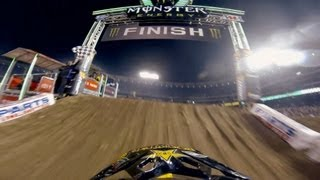 GoPro: Davi Millsaps Winning Run at Anaheim Opener – Monster Energy Supercross 2013
