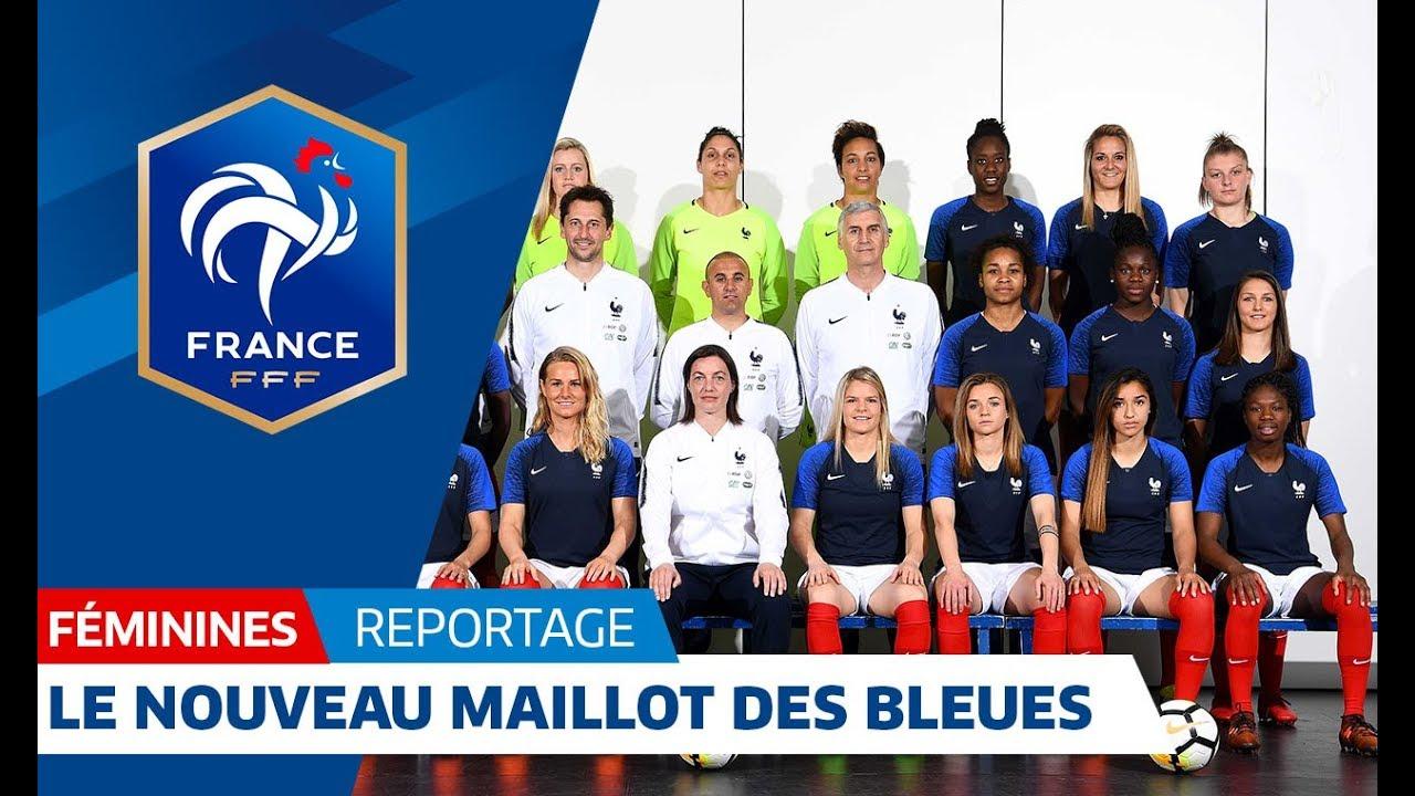 equipe de france f minine un nouveau maillot pour les bleues i fff 2018 youtube