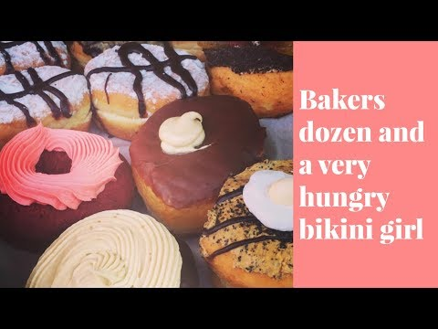 Baker's dozen and a very hungry bikini girl