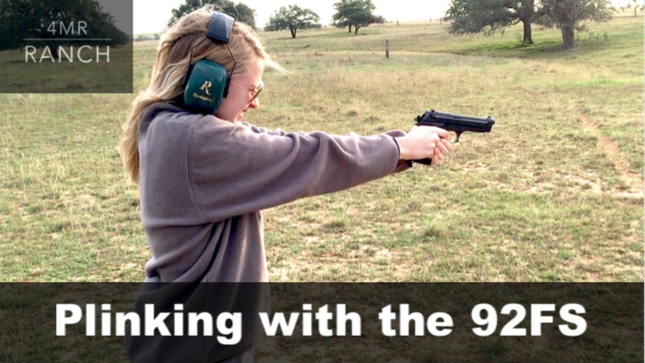 Katie Shooting the Beretta 92FS like a PRO!
