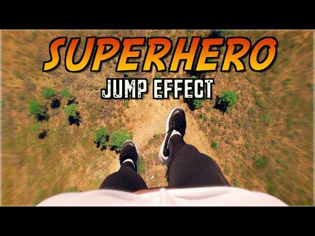 SUPER HERO JUMP EFFECT WITH ANY DRONE! 🦸