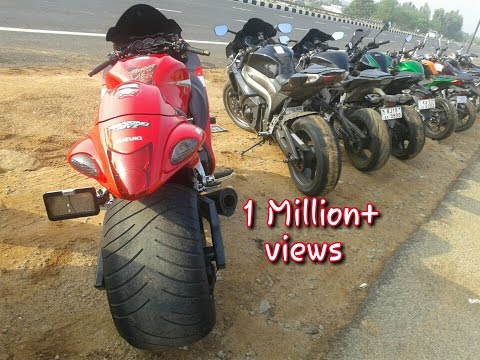 Hayabusa With Fat Tyre Brocks Exhaust In India Bangalore