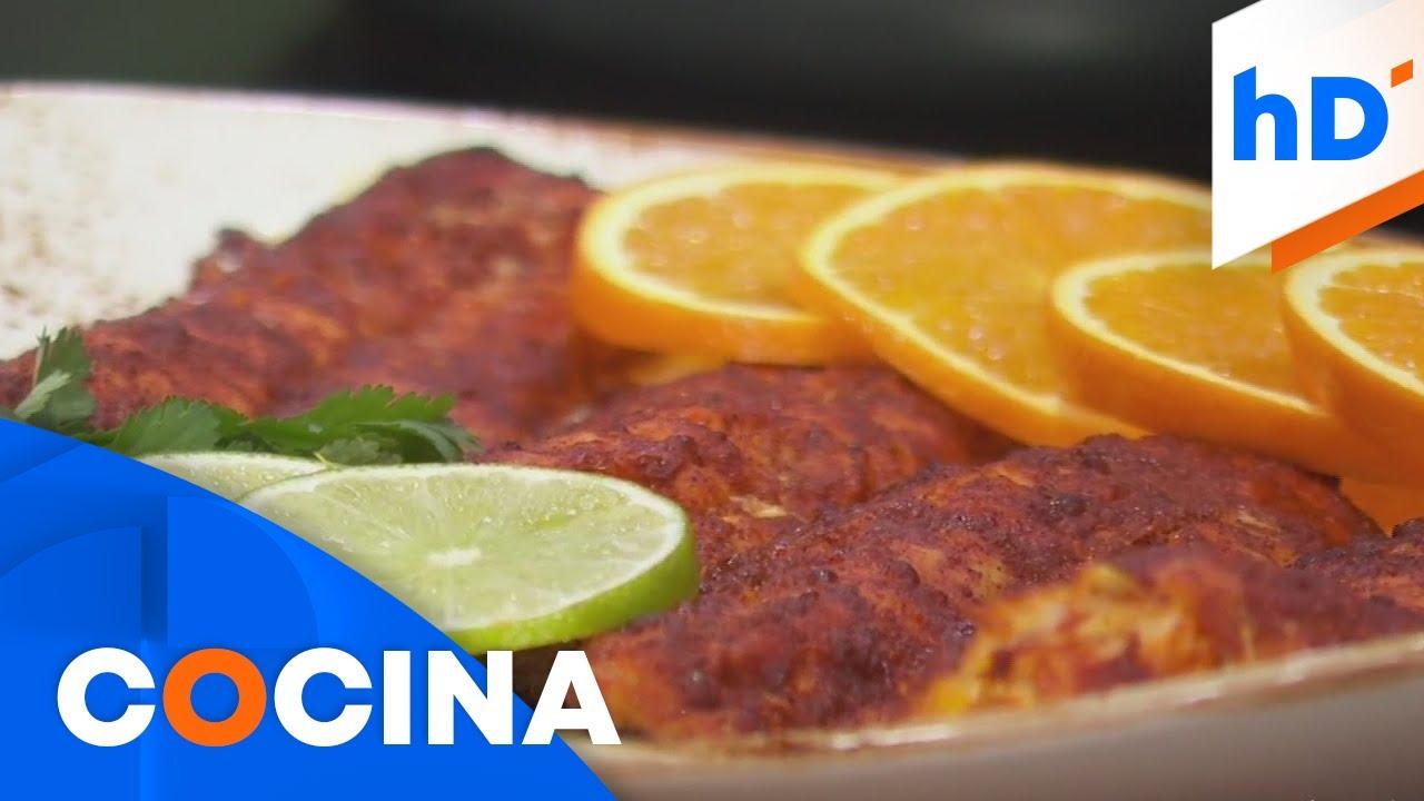 Receta: prepara pescado al achiote tipo Caribe Mexicano | hoyDía | Telemundo
