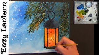 Paint a Lantern Holiday Tutorial , acrylic painting #clive5art