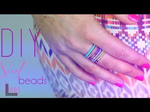 Favori TUTORIEL - DIY : BAGUES EN PERLES DE ROCAILLES - Seed Beads ring  JT48