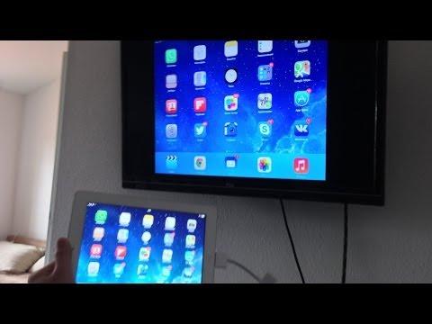 Вывод картинки с экрана IPad/iPhone/iPod на телевизор через HDMI