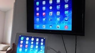Вывод картинки с экрана iPad/iPhone/iPod на телевизор через HDMI(Скидки всем подписчикам от магазина яблочной техники AppleJesus.ru :) http://applejesus.ru/ 30пиновый адаптер: http://www.buyincoins.com..., 2014-04-16T09:31:39.000Z)