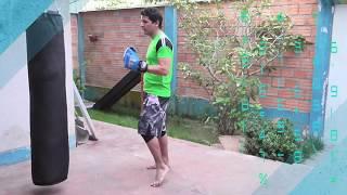Cómo golpear el saco de boxeo - Combinación de 2 golpes basico en costal - Muay thai