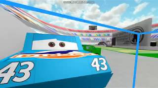 ROBLOX cars the king and chick and lightning fails (FIRST BANDICAM VIDEO)