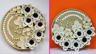 Amazing wall hanging/showpiece with jute and cardboard | Home decoration using jute