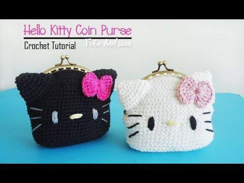 Crochet Tutorial Rajut Dompet Koin Hello Kitty