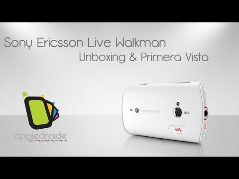 Sony ericsson walkman live (wt19a) Unboxing y primera vista