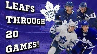 The Maple Leafs through 20 games!
