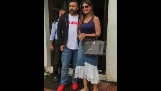 Shilpa Shetty Spotted With Husband Raj Kundra Bastin Hotel For Lunch