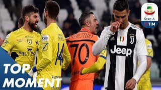 Ronaldo's Penalty SAVED by Sorrentino!   Juventus 3-0 Chievo   Top Moment   Serie A