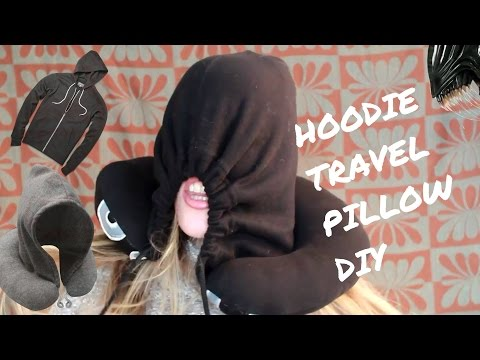 DIY: Travel pillow with a hood- Yip it's a thing