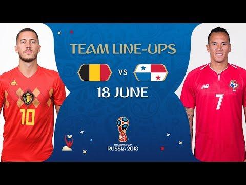 LINEUPS – BELGIUM v PANAMA - MATCH 13 @ 2018 FIFA World Cup™