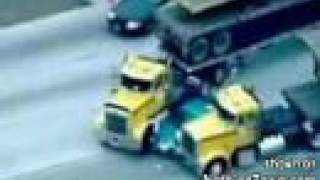 Truckers stop pursuit