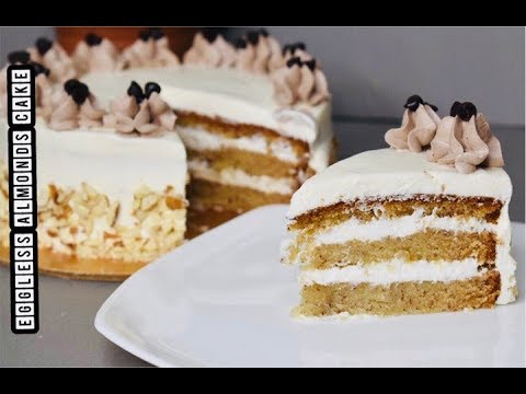 Eggless Almonds Cake||Almond Cake Recipe|| How To Make Almond Cake