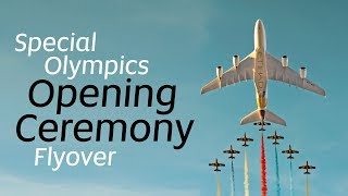 A380 Flyover at the Special Olympics Opening Cerem...