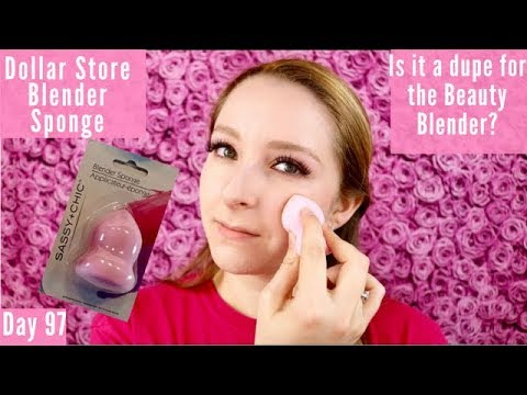 Sassy + Chic Blender Sponge Review | Dollar Store| Day 97 Of Trying A New Makeup Product Every Day