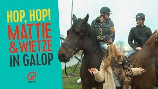 """O jeetje!"" Mattie & Wietze in galop // Qmusic"